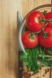 Tomaten en dille Stock Afbeelding