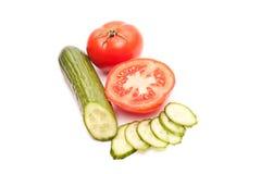 Tomaten en komkommers Stock Foto