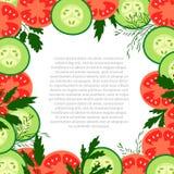 Tomaten en komkommers Stock Afbeeldingen