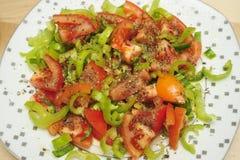 Tomaten en peper Royalty-vrije Stock Afbeeldingen