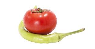 Tomaten en peper Royalty-vrije Stock Afbeelding