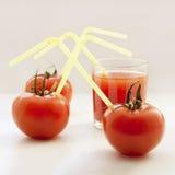 Tomaten en tomatesap Stock Foto