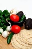 Tomaten en Tortilla's Stock Foto