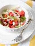 Tomaten-Fenchel-Salat Stockbilder