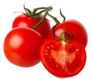 Tomaten getrennt auf einem weißen Hintergrund. Lizenzfreies Stockbild