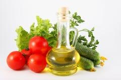 Tomaten, Gurken, Kopfsalat, Petersilie, Gemüse Lizenzfreies Stockbild