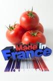 Tomaten hergestellt in Frankreich Stockfoto