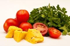 Tomaten Käse und Petersilie Lizenzfreie Stockbilder