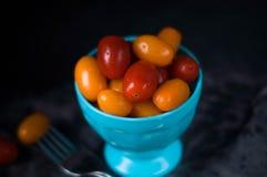 Tomaten in Kom royalty-vrije stock afbeelding