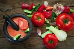 Tomaten koude soep Royalty-vrije Stock Foto