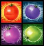 Tomaten met achtergrond vector illustratie