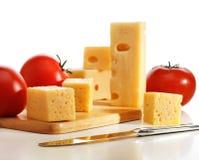 Tomaten met kaas stock afbeeldingen