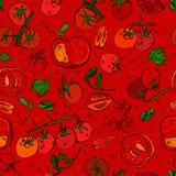 Tomaten-Muster 01 A Stockfotos