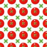 Tomaten naadloos patroon in vlakke stijl op een witte achtergrond stock illustratie