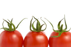 Tomaten op Witte Achtergrond Royalty-vrije Stock Fotografie