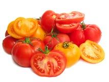 Tomaten op witte achtergrond Stock Foto