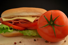 Tomaten-Sandwich lizenzfreies stockfoto