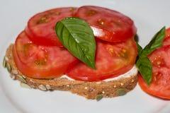 Tomaten-Sandwich stockfoto