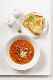Tomaten-Suppe Lizenzfreie Stockfotos