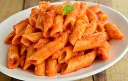 Tomaten-Teigwaren Lizenzfreies Stockfoto