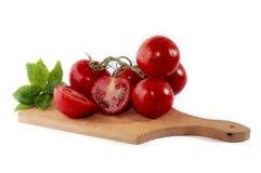 Tomaten und Basilikum Stockfotos