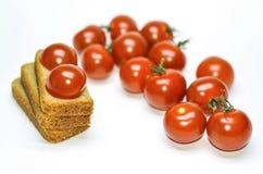 Tomaten und Brot Stockbild