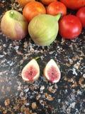 Tomaten und Feigen Lizenzfreies Stockbild