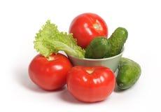 Tomaten und Gurken Stockfoto