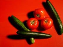 Tomaten und Gurken Stockbild