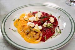 Tomaten und Käse Stockfotografie
