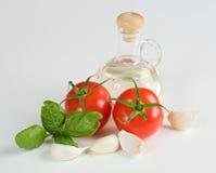 Tomaten und Knoblauch Lizenzfreies Stockfoto
