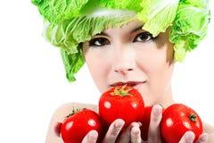 Tomaten und Kohl lizenzfreies stockfoto