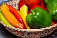 Tomaten und Pfeffer Stockbild