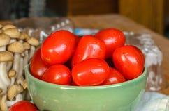 Tomaten und Pilz Stockfotografie