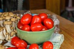 Tomaten und Pilz Stockfotos