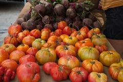 Tomaten und rote Rüben Stockbild