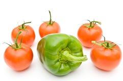 Tomaten und süßer Pfeffer. Stockfotografie