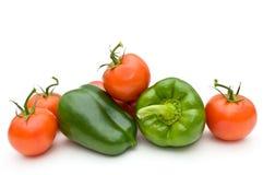 Tomaten und süßer Pfeffer. Stockfotos