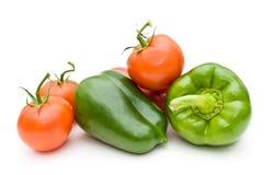 Tomaten und süßer Pfeffer. Lizenzfreies Stockbild