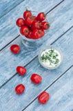 Tomaten und Soße Stockfotos