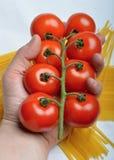 Tomaten und Spaghettis Stockbilder
