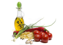 Tomaten und Teigwaren lizenzfreies stockbild