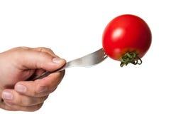 Tomatenbovenkant dowm Stock Afbeeldingen
