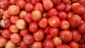 Tomatendetailbeschaffenheit und -hintergrund Stockfoto