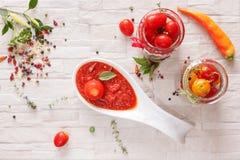 Tomatenjam Stock Afbeelding