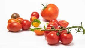 Tomatenkirschtomatenisolate stockfoto