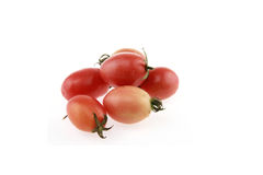 tomatenkleur op witte achtergrond Stock Foto's