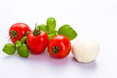 Tomatenmozarella Stock Foto's