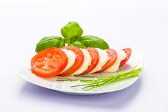 Tomatenmozzarella Lizenzfreies Stockbild