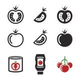 Tomatenpictogrammen vector illustratie